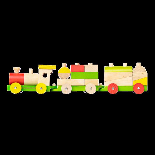 Tåg med klossar